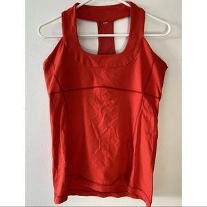 Lululemon Scoop Neck Love Red Mesh Tank Size 12